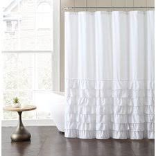 White Shower Curtains Wonderful White Shower Curtain Ruffles A Intended Ideas