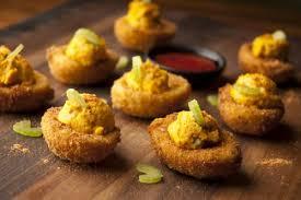 deviled egg dishes buffalo fried deviled eggs recipe savory spice shop