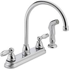 Unique Kitchen Faucets Kitchen Peerless 2 Handle Kitchen Faucet With Sprayer In Silver