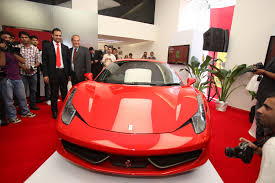 ferrari dealership inside ferrari opens first dealership in india but some wonder why