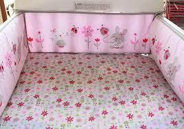 rabbit crib bedding 8pcs cotton crib bedding set pink rabbit newborn baby