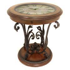 Overstock Round Coffee Table - casa cortes designer round clock coffee and end table free
