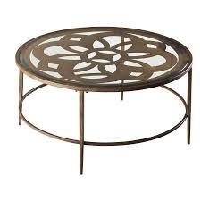 Metal Glass Coffee Table Hillsdale Furniture Marsala Metal And Glass Coffee Table Brown