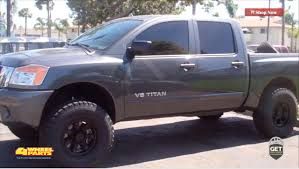 nissan frontier 6 inch lift kit nissan titan 2012 build by 4 wheel parts chula vista ca youtube