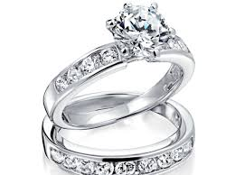 Princess Wedding Rings by Ring Dazzling Wedding Ring Sets Princess Cut White Gold Charm