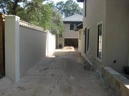 architectural modern house wall fence ideas duckdo cream blocks