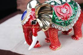 asian crystal ring holder images Big elephant crystal studded pewter jewelry trinket box handmade jpg