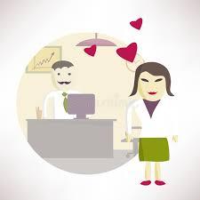 l amour dans le bureau directeur de bureau de femme dans l amour avec un homme dans le