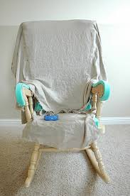 rocking chair cover adding comfort to a wooden rocking chair part two makely