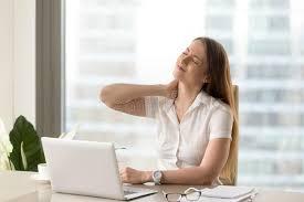 femme de bureau douleur fatiguée de femme d affaires de de bureau image