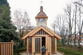Wooden Roof Finials by This Wooden Prefab Chapel Is A Gorgeous Tribute To Chernobyl