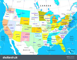 United States Capitals Map by States Capitals Map Of United With World With Map Of Mexico And