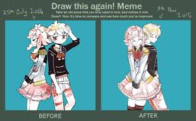 Draw It Again Meme - draw this again meme therefore you and me by ekkoberry on deviantart