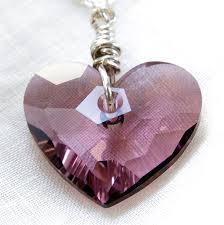 purple heart necklace images Swarovski crystal purple heart necklace sterling silver jpg