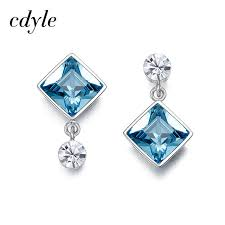 cd earrings cdyle crystals from swarovski dangle earrings women earring luxury