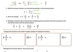 multiplying fractions worksheets education com