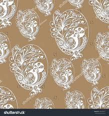 seamless pattern egg bird branches symbol stock vector 576540013