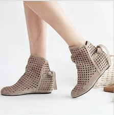 s boots flat effgt 2017 s summer boots flat low wedges cutout