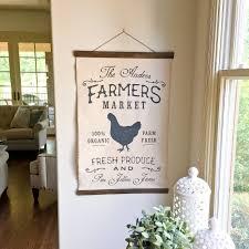 20 u2033 x 30 u2033 farmhouse wood and canvas wall hanging u2013 choose your