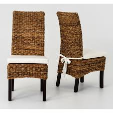 pier one dining room chairs furniture dining chair by seagrass furniture with white cushion