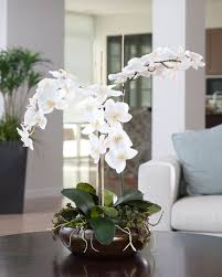 decoration beautiful living room design wit white faux floral
