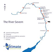 Kayak Map River Severn Canoe U0026 Kayak Hire Ultimate Canoe U0026 Kayak