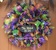 the witch is in halloween wreath sold u2013 playful custom crafts u0026 decor