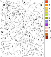 printable color number adults color number