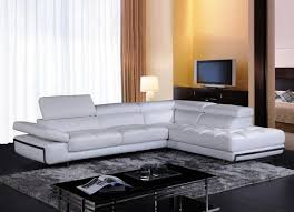 Sofa Casa Leather Vig Furniture Divani Casa Myst Mini Modern White Eco Leather