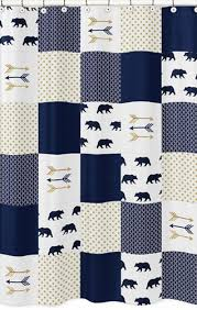 Navy And White Striped Shower Curtain Navy And White Shower Curtain Madison Park Essentials Merritt