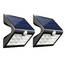 Outdoor Patio Solar Lights by Innogear 2nd Version 14 Led Solar Lights With Rear Projection