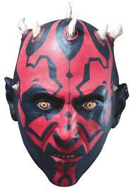 darth maul vinyl mask deluxe halloween star wars masks