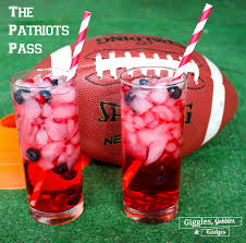 new england patriots themed cocktails perfect for the big game via