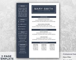 microsoft word resume templates cv template word etsy