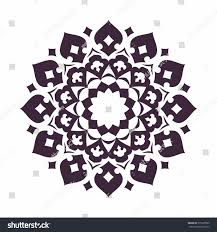mandala islam arabic asian ornamental motifs stock vector