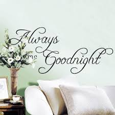 Modern Wall Stickers For Living Room Online Shop New Large Size Always Kiss Me Good Night Modern Wall
