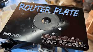 router plate install w flush trim bit youtube