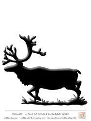 25 reindeer silhouette ideas santa sleigh