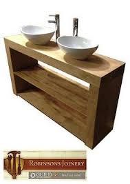 Solid Wood Bathroom Vanities New Rustic Chunky Solid Wood Bathroom Sink Vanity Unit Handmade