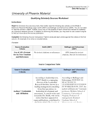 Scholarly Essay Example Solution Qualifying Scholarly Sources Worksheet Studypool