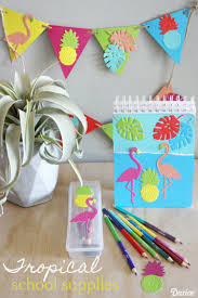 themed paper diy school supplies tropical themed paper decor darice
