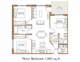 Master Bedroom Plans With Bath 2 Bedroom 2 Bath Apartment Floor Plans Caruba Info