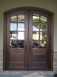 Collapsible Patio Doors by Brown Stained Wooden Frame For Folding Glass Patio Door And