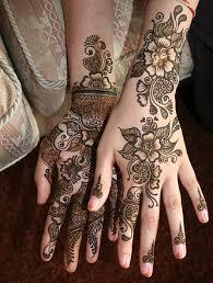 floral henna design henna design