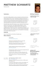 Professional Resume Examples For College Graduates by Columnist Resume Samples Visualcv Resume Samples Database