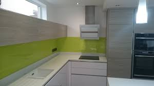 lime green glass splashbacks for kitchens and bathrooms