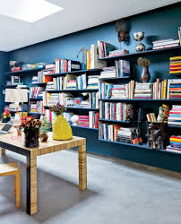 modern home library ideas for bookworms and butterflies library in a home office via revista ad view in gallery