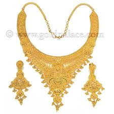 earring necklace set gold images Gold sets necklace and earrings 22 k jpg