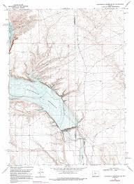 Opal Creek Oregon Map Fontenelle Reservoir Se Topographic Map Wy Usgs Topo Quad 42110a1