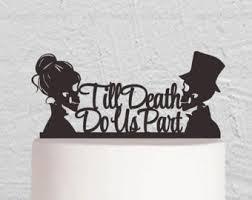 skull wedding cake toppers skull cake topper etsy